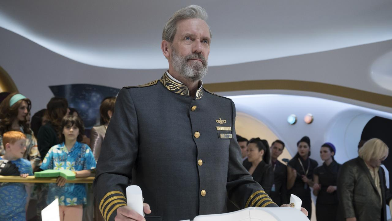 Hugh Laurie in a scene from Foxtel's sci-fi comedy Avenue 5.