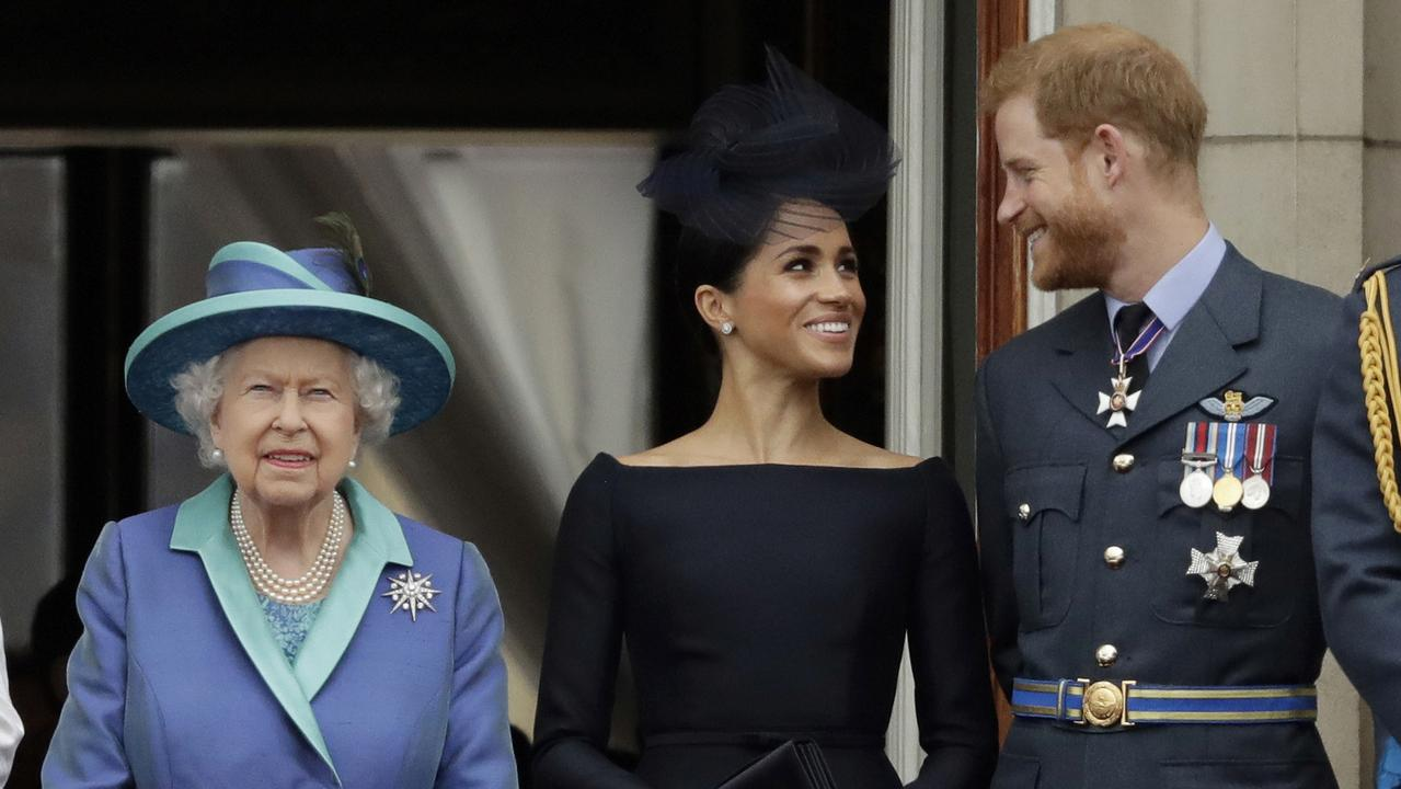 Harry and Meghan can no longer formally represent the Queen. Picture: AP/Matt Dunham, File)