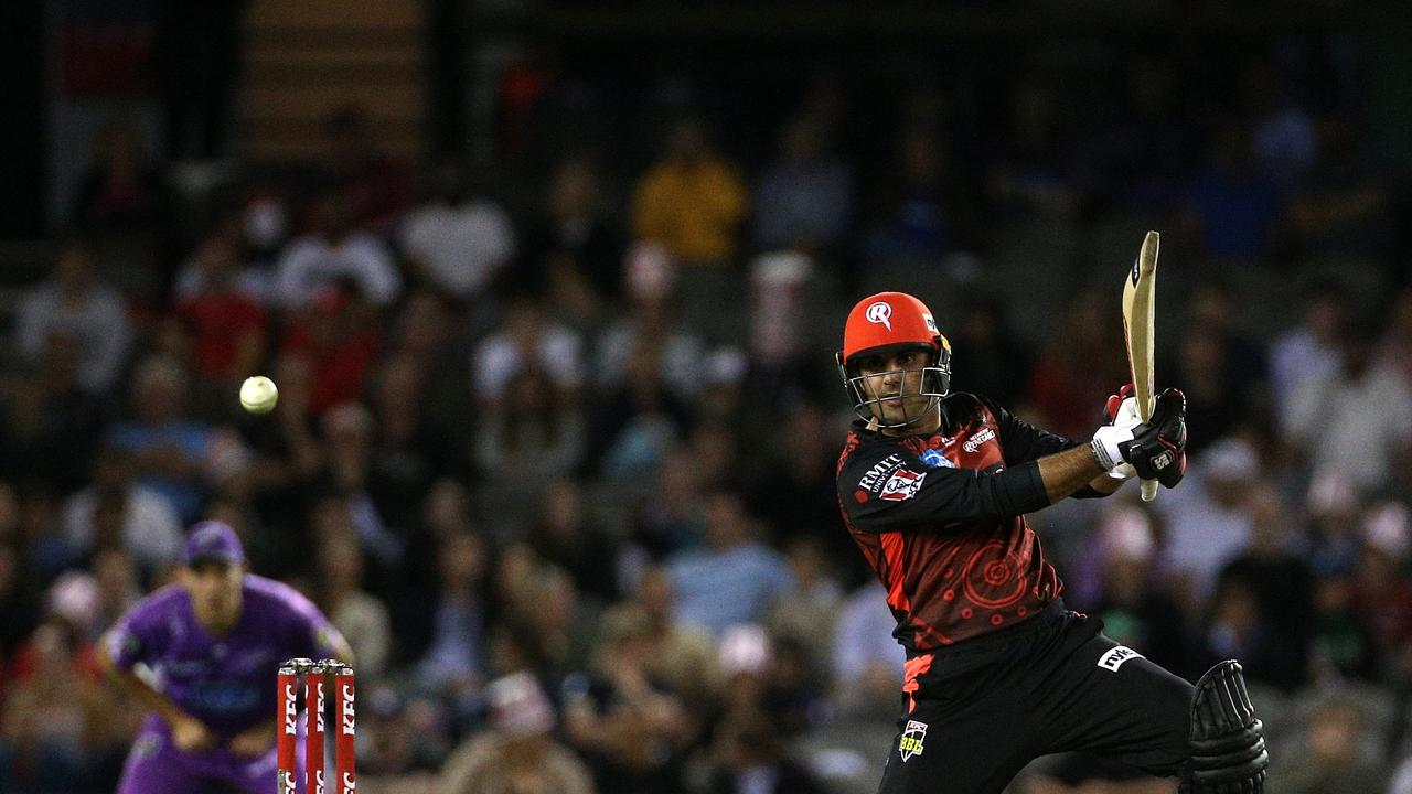 Mohammad Nabi kept the Renegades in the match. Picture: AAP Image