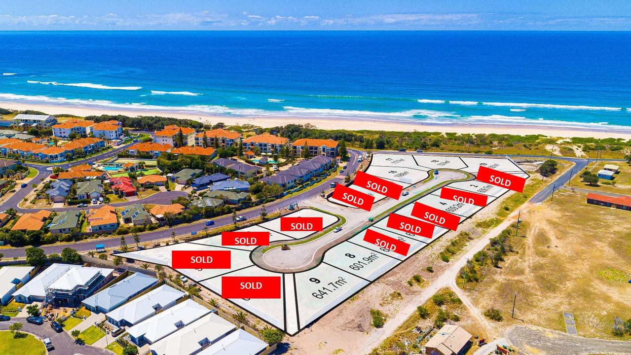 This land sold so fast even the designers of this graphic couldn't keep up. There are now only two lots left.