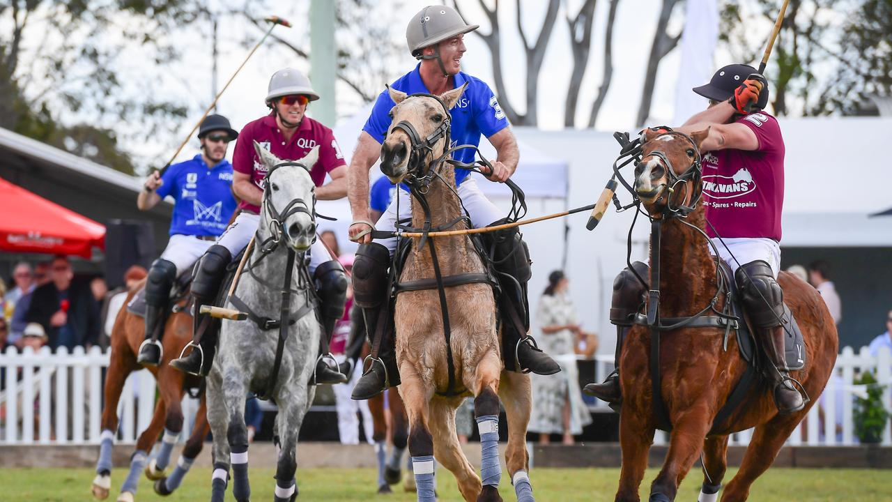 Last year's pop-up polo event in Bundaberg had a State of Origin theme. Picture: Brian Cassidy