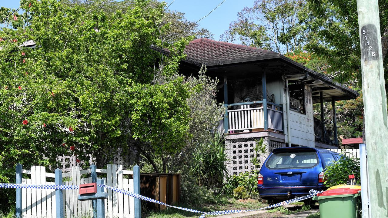 House fire on Howard Street in Goodna on Monday night.