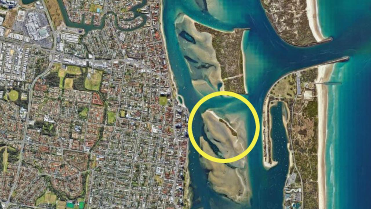 The location of Curlew Island just south of Wavebreak Island. Picture: Google Maps.