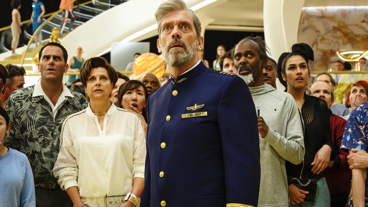 Hugh Laurie in a scene from sci-fi comedy Avenue 5.