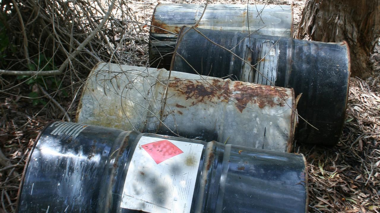 More drums have been found illegally dumped near Yeppoon. Photo supplied.