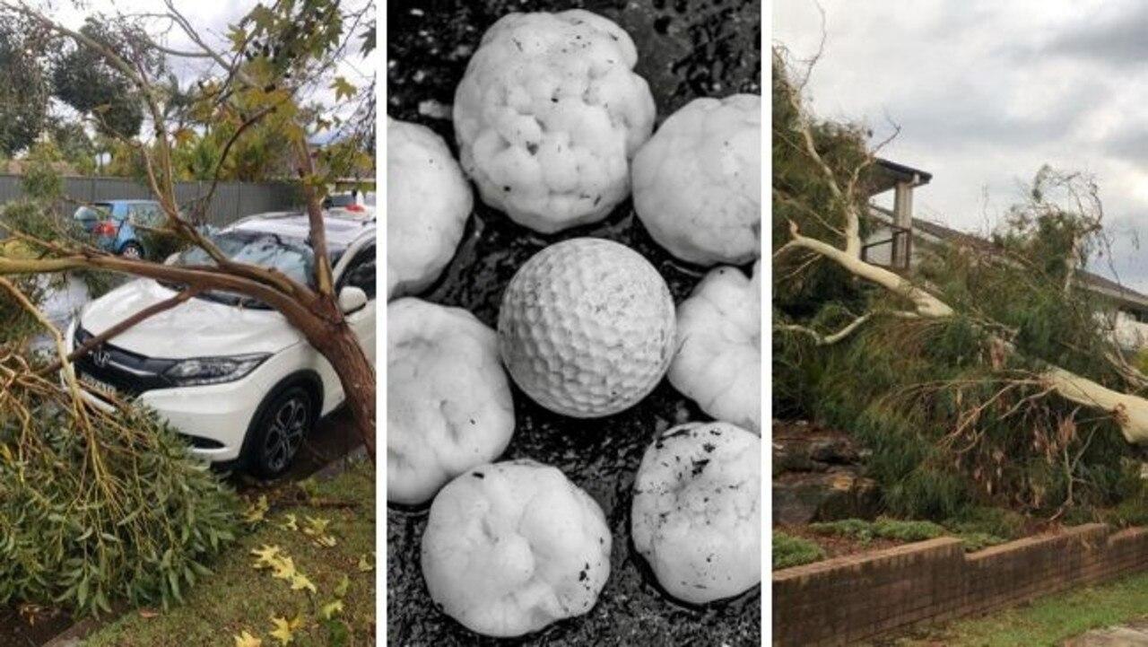 southern sydney smashed by storms hail overnight
