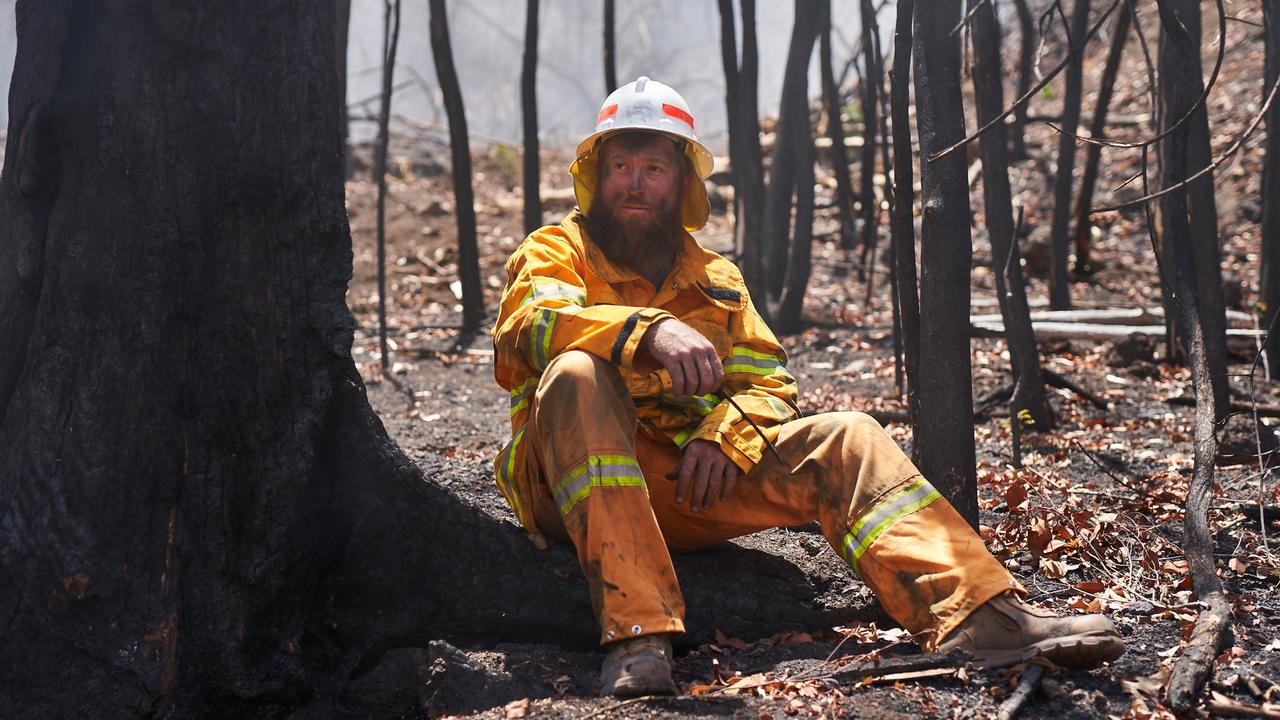 AUSSIE SPIRIT: Station manager and volunteer firefighter Jesse Bird.