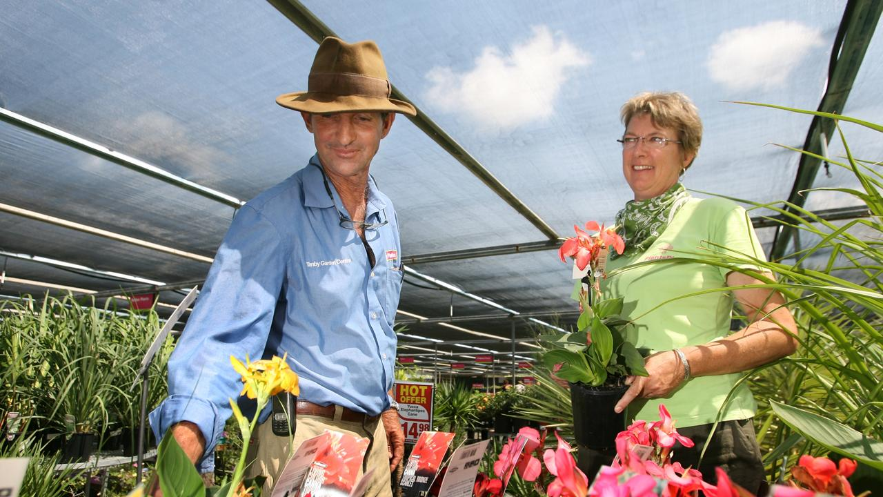 RUNNING ON EMPTY: Joanna and David Scott at the Tanby Garden Centre.