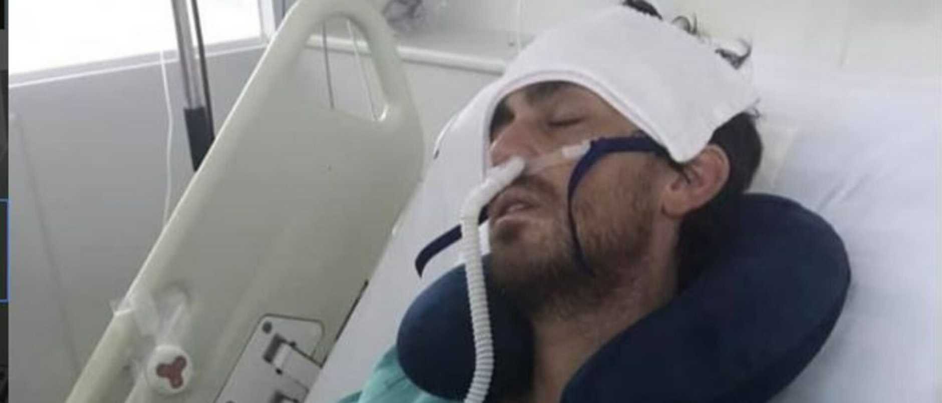 Supplied  Ash Shorely, suspected first 'western' victim of the Wuhan flu virus