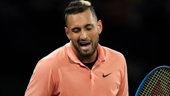 Nick Kyrgios is through to the second round of the Australian Open.