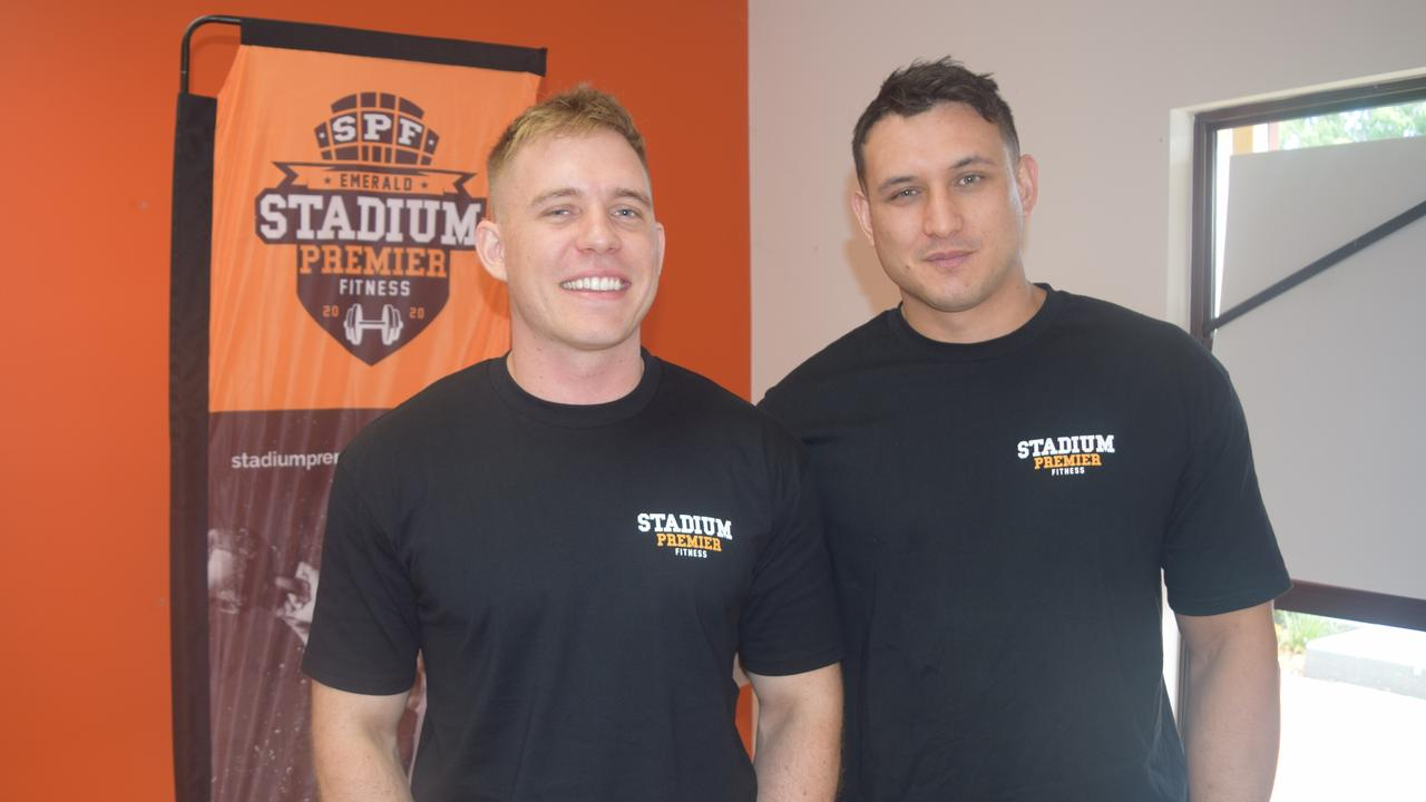 NEW BUSINESS: Owners of Emerald's Stadium Premier Fitness Travis Stolk and Whetu Austin. The gym is expected to launch at the Hub in March, 2020.