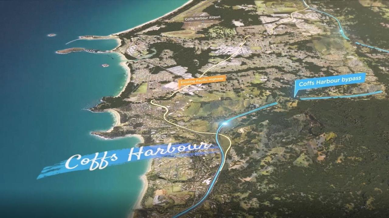 The 14km bypass will stretch from Englands Road in the south and through to the newly upgraded Sapphire to Woolgoolga section in the north.