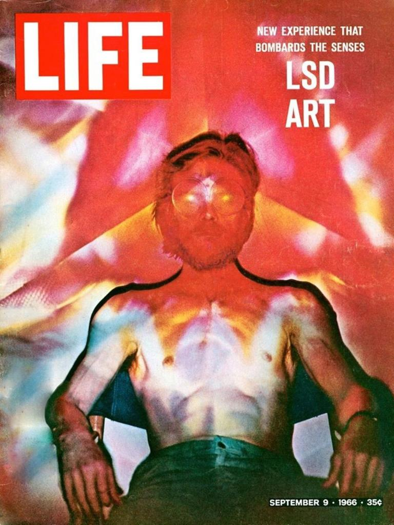 """The cover of Life magazine in 1966 that convinced Mr Foley-Fogg that he could make a living by designing and producing lightshows and lumino kinetic art. """"For 35 cents I found out that what I was doing since the age of about 12 was a world wide movement – Ellis D Fogg was born and I never looked back."""""""