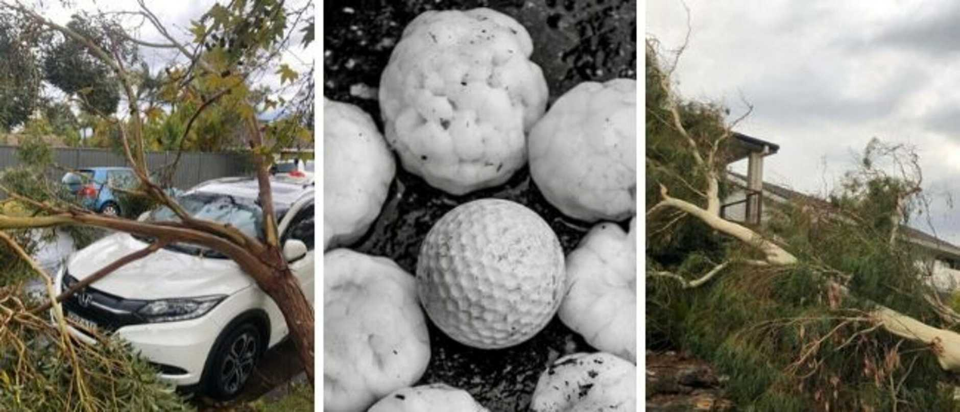southern sydney smashed by storms hail overnight