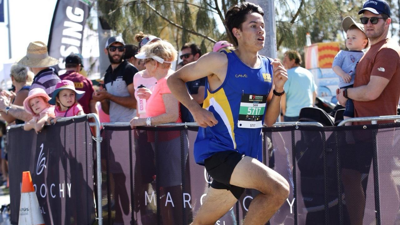 Matthew Rankin in action at the Sunshine Coast Marathon 5km event last year. Picture: Contributed.