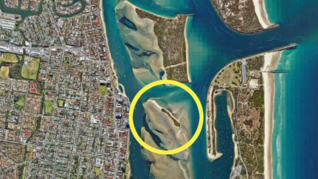 Graphic showing location of 'Curlew Island'