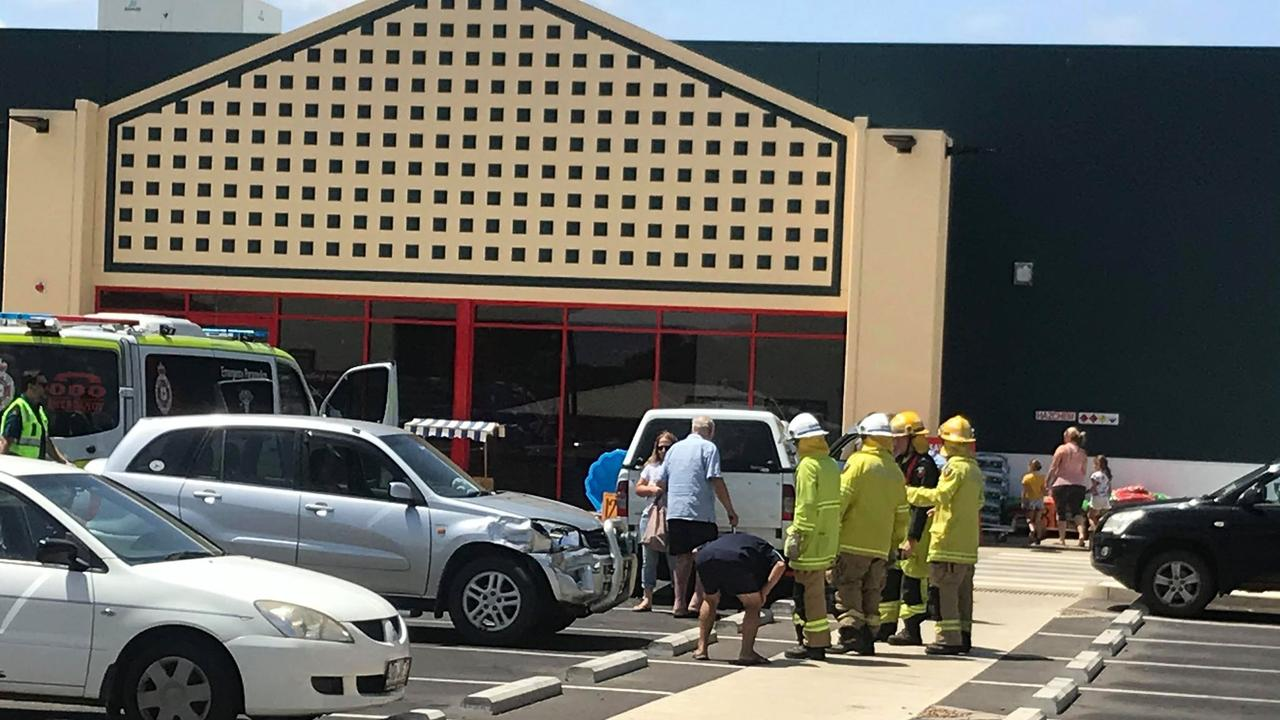 A woman in her 60s allegedly had a health episode in a Bunning's car park in Kingaroy.