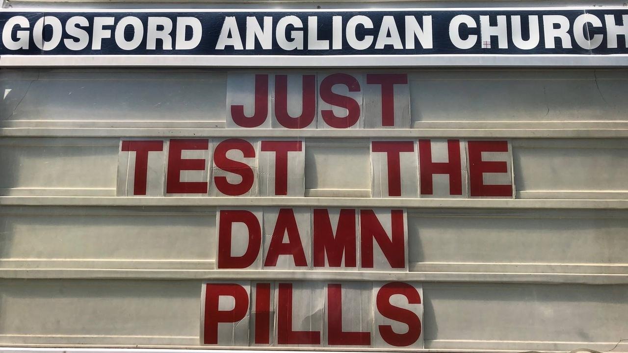 Anglican Parish of Gosford's message in support of pill testing.