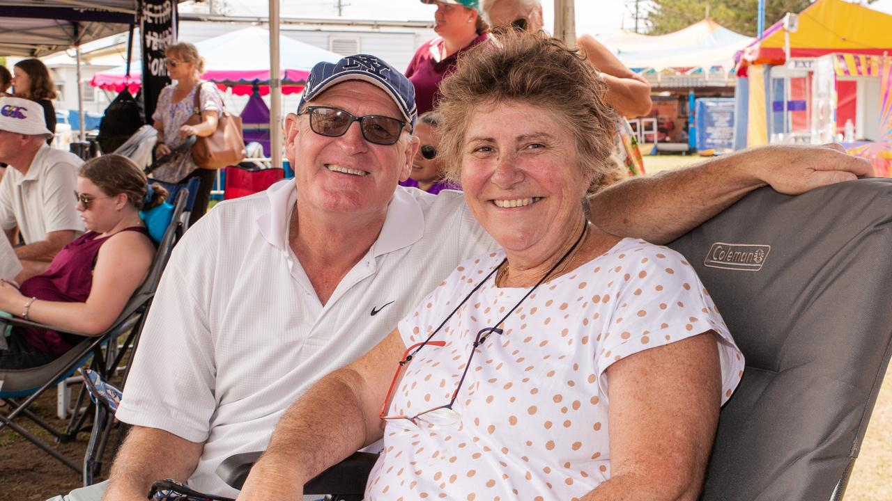 Paul and Marita Lindsay have grown up watching the Brunswick Heads Woodchop competition.
