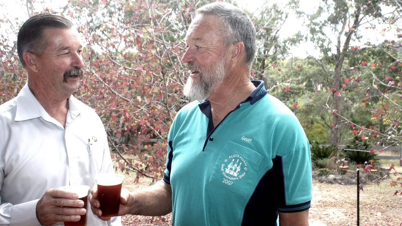 BREW BROTHERS: Geoff and Kerry Marsden want to see more people taking part in the Stanthorpe Show's beer and wine categories.