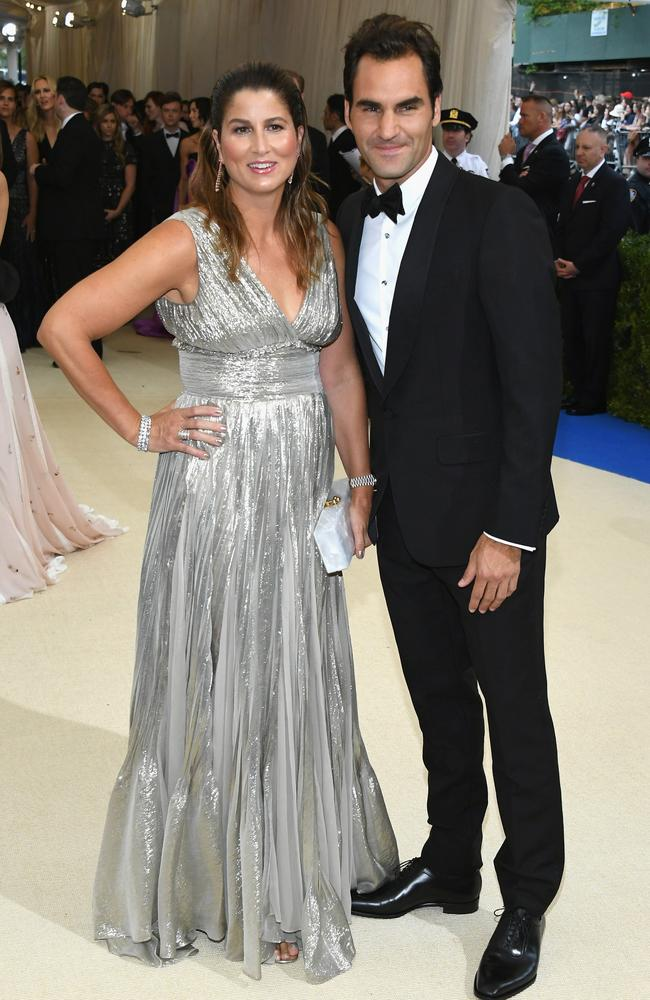 Mirka Federer and Roger Federer at the 2017 Met Gala in New York. Picture: Getty Images