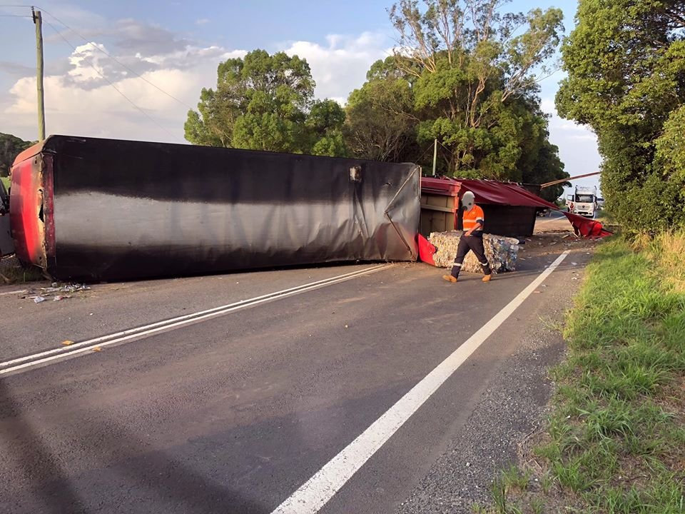 SOCIAL MEDIA IMAGE DISCUSS USE WITH YOUR EDITOR - Truck crash near Rileys Hill Road, Pacific Hwy.