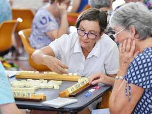 Tiles on the table for Mahjong