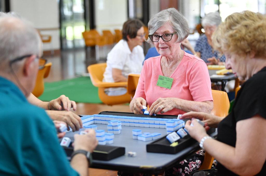 Image for sale: Denise Kelly enjoyed her moorning playing Mahjong. Picture: Tony Martin