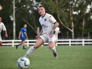 MCU midfielder Jordy Vleugels chats Round 1 v Peninsula Power