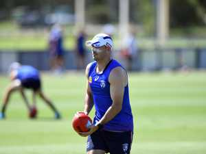 Western Bulldogs AFL team training at the