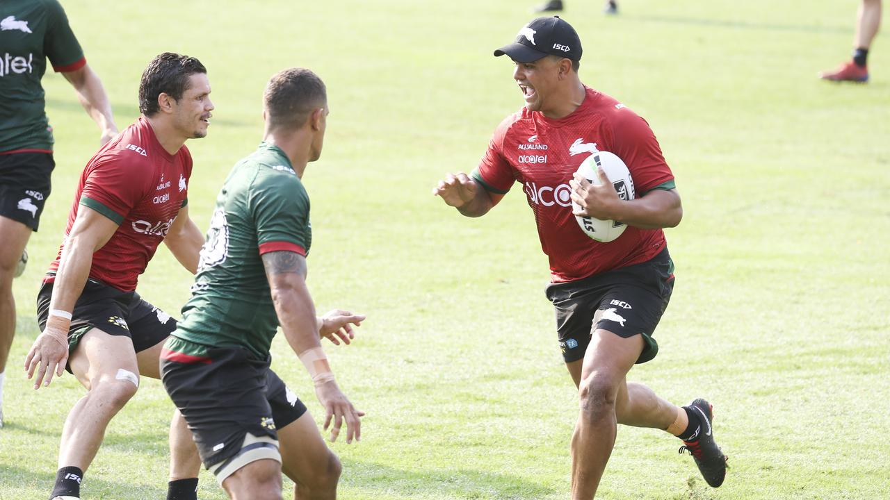 Latrell Mitchell's move to fullback will cause a reshuffle at Souths. Picture: Dylan Robinson