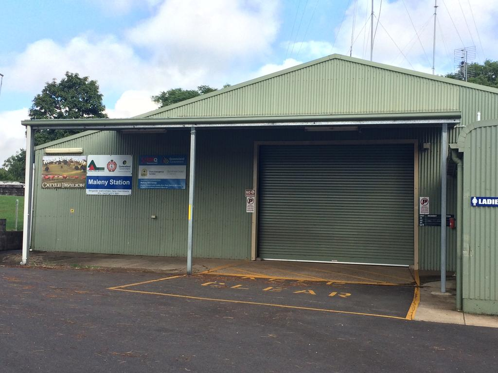 The Maleny Rural Fire Brigade and SES have operated out of a cattle shed for years but finally will move into a purpose-built new facility. Photo: Contributed