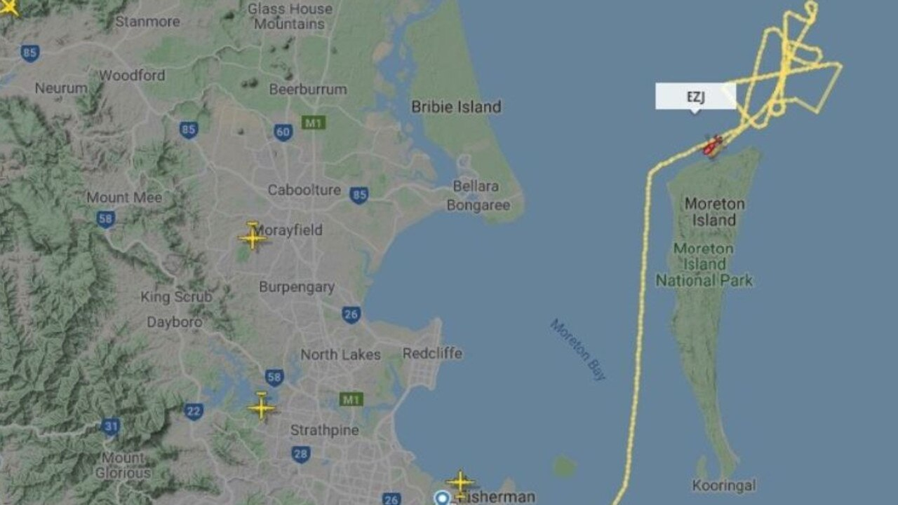 Flight path of Flinders Reef search