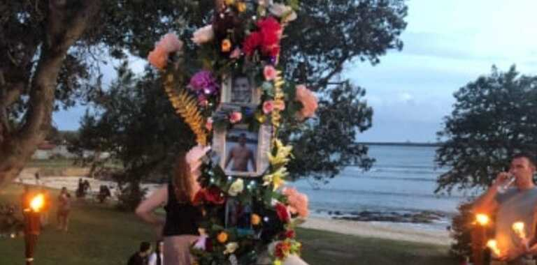 On Sunday at Shaws Bay, friends and family held a candlelight memorial to remember Jesse Vilkelis-Curas, and to raise awareness against violence.