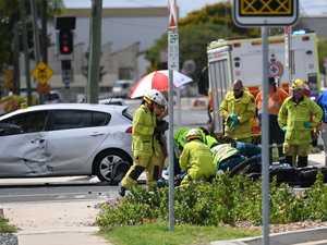 'Significant' leg injury after car vs motorbike crash