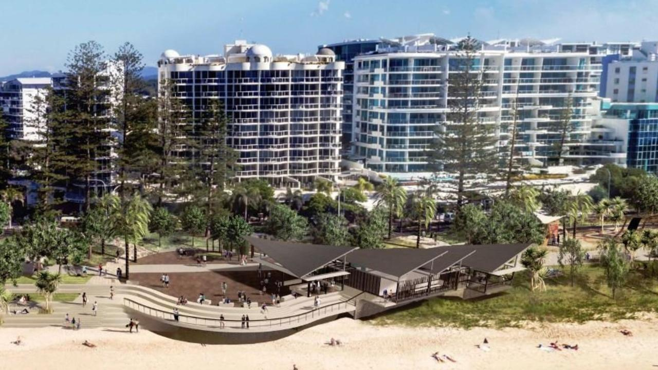 PLANS: The detailed design for the Mooloolaba foreshore redevelopment has given a glimpse of what it will look like.