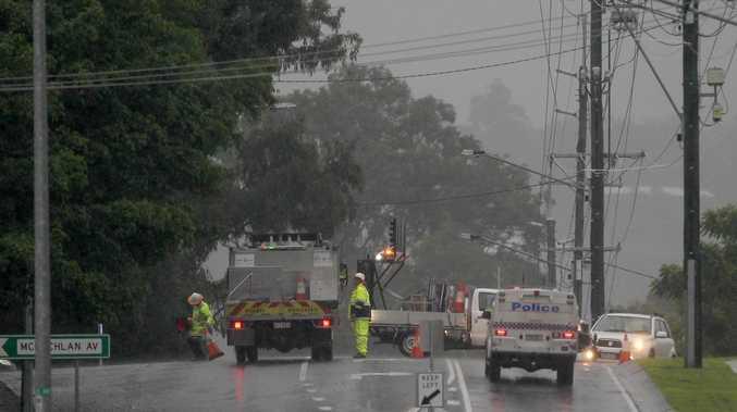 Emergency roadworks on major road