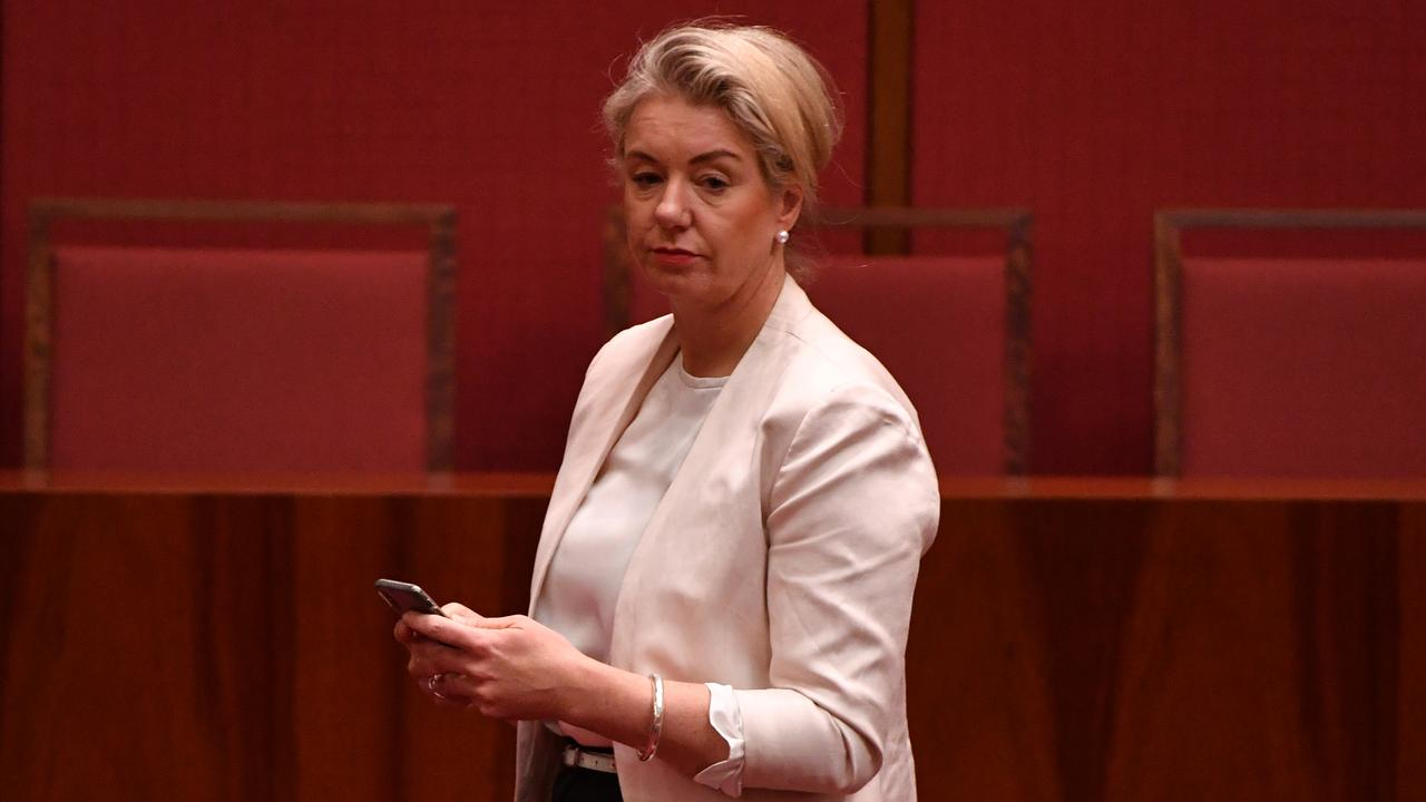 Minister for Agriculture Bridget McKenzie in Senate chamber at Parliament House in Canberra, Monday, December 2, 2019. (AAP Image/Mick Tsikas) NO ARCHIVING