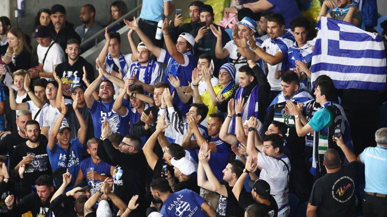 Greek fans on day three of the Australian Open.