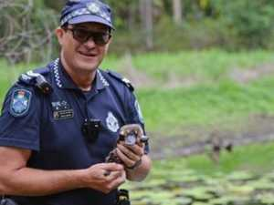 Cops lend helping hand to save different kind of life