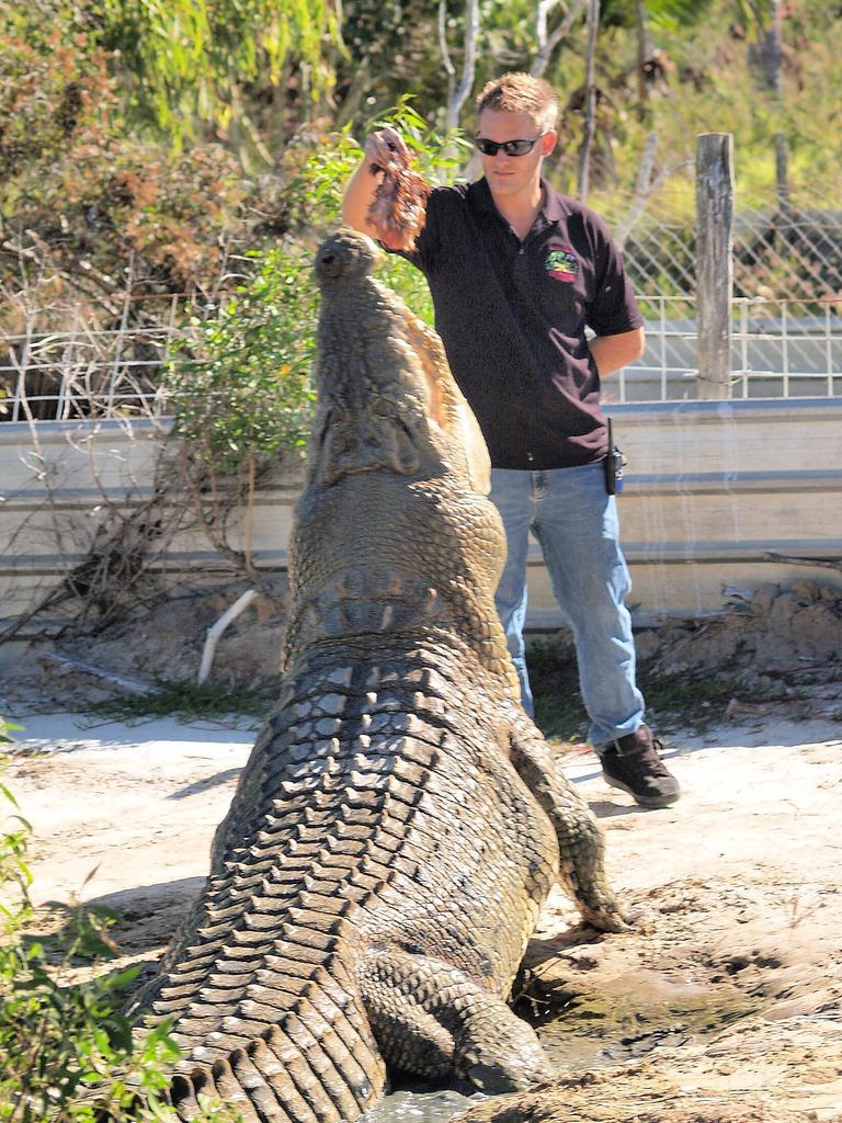 Adam Lever feeding Rocky
