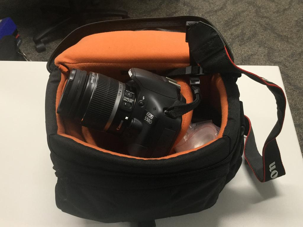 An expensive camera was among the stolen items.