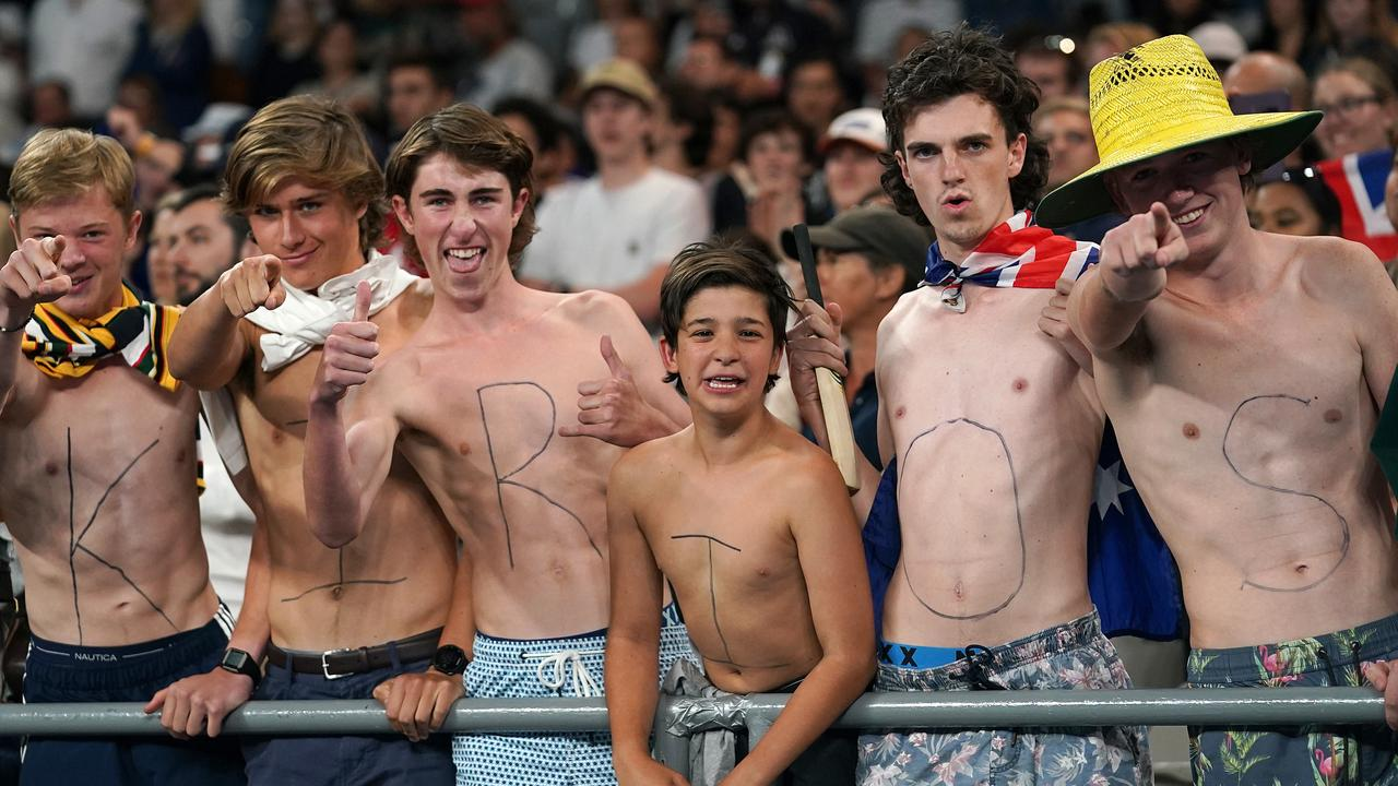 Nick Kyrgios fans show the love on day two of the Australian Open. Picture: Dave Hunt/ AAP