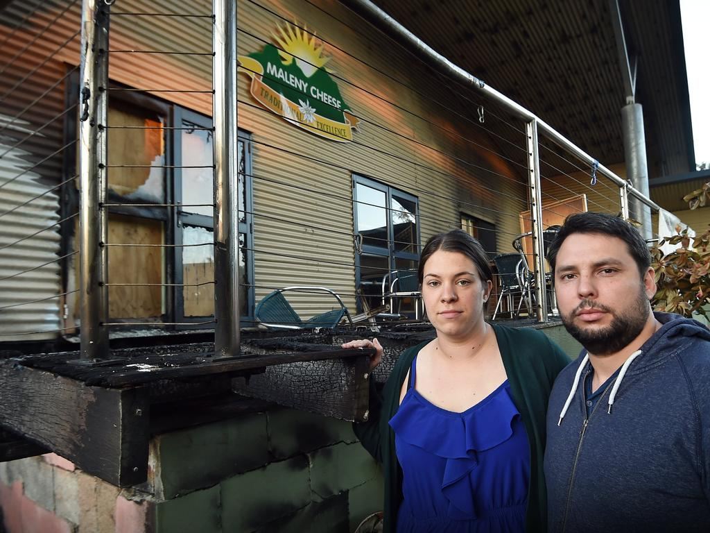 Manager Jennepher Bucher and her husband Cohen was devastated after the arson attack on the Maleny Cheese factory in 2018. Photo: Patrick Woods