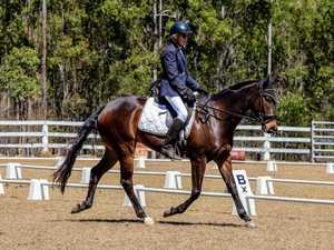 Dressage win after a rough trot