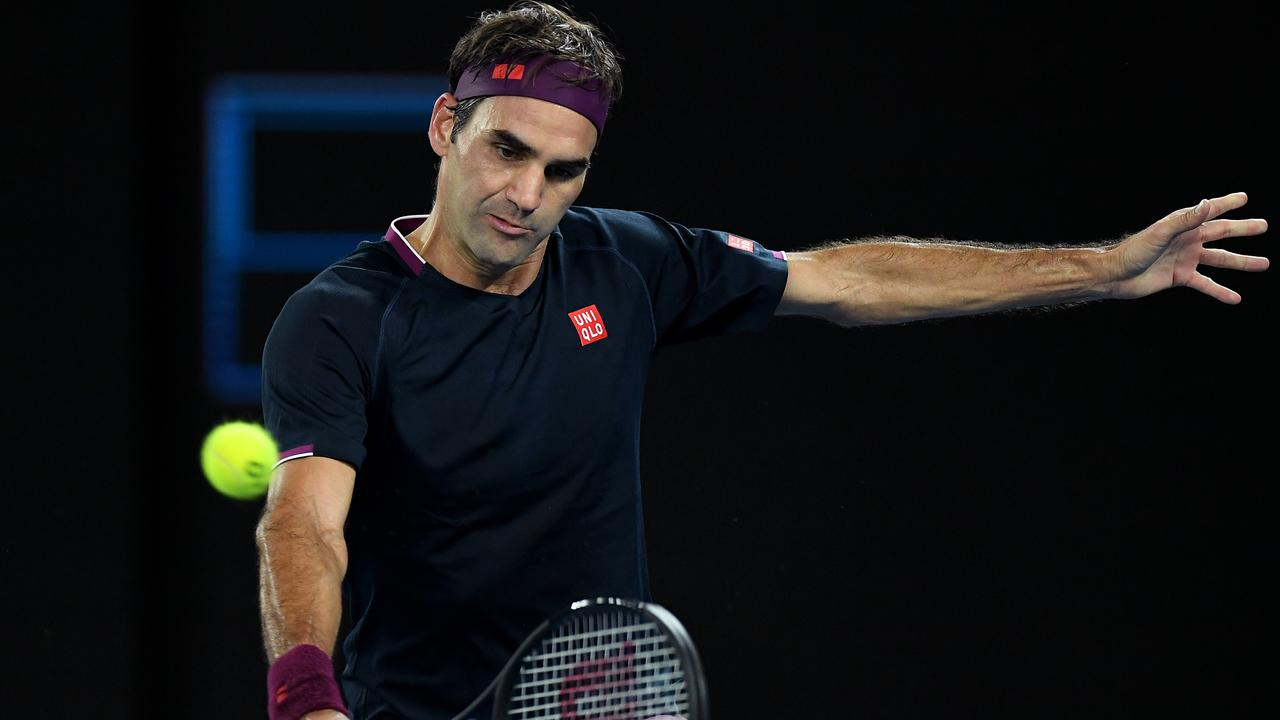 Roger Federer was at his brilliant best on Wednesday night. Picture: AAP Images
