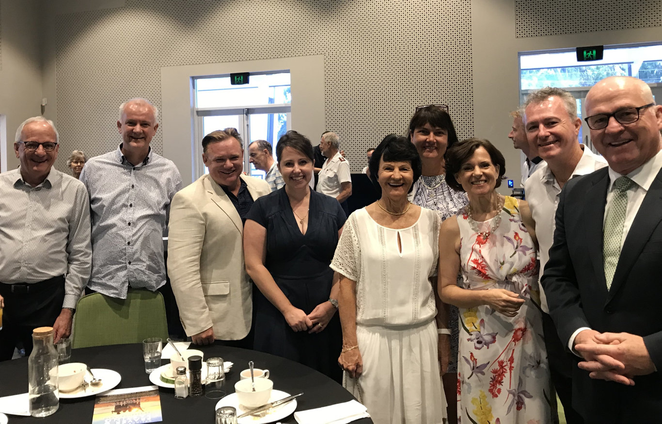 Sunshine Coast mayoral prayer breakfast. More than 100 church leaders and members gathered. Mayor Mark Jamieson with Coast Christians.