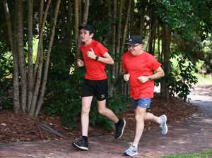 Paul Williams and son Rhys did the first parkrun and