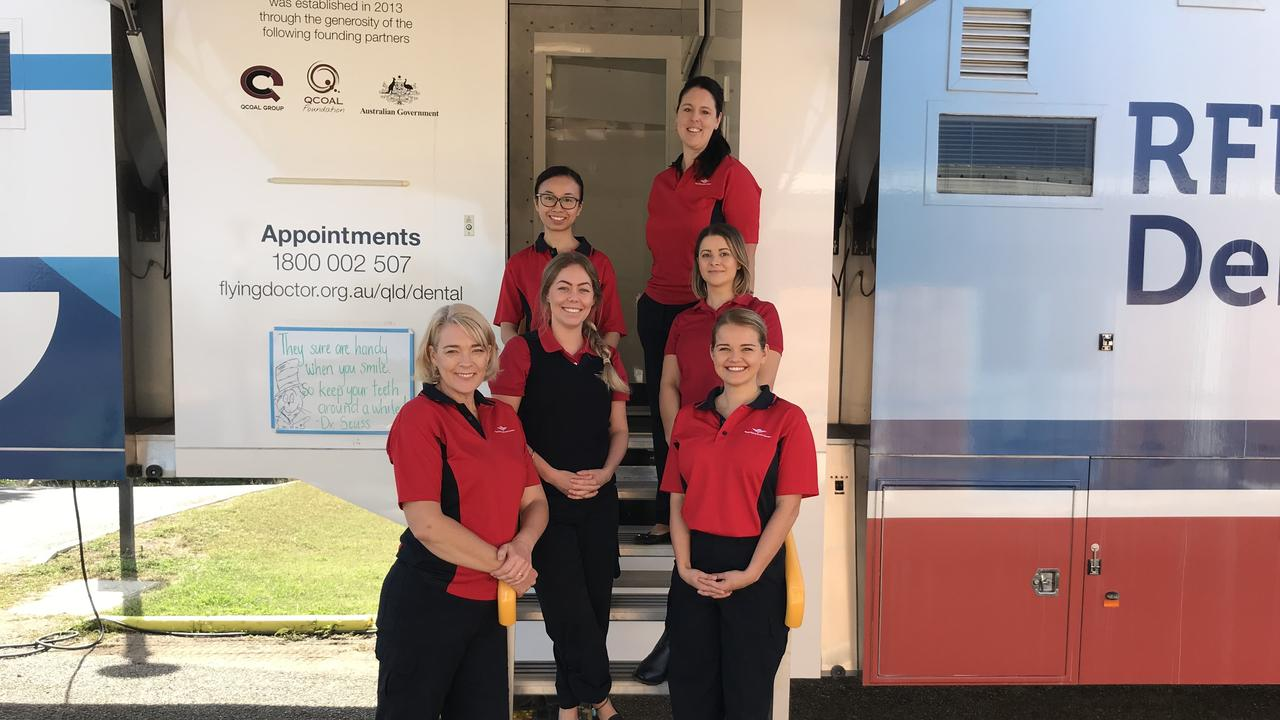 The team at the Royal Flying Doctor Service's mobile dental service van. Picture: Contributed