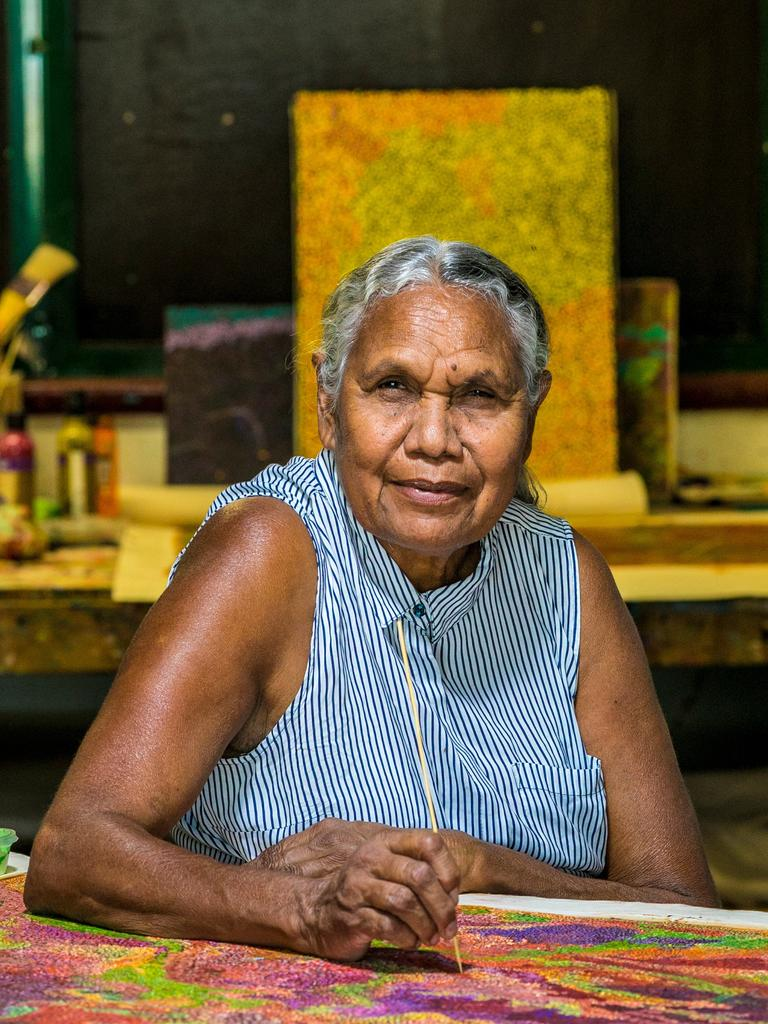 NITV's Marni follows Allery Sandy as she creates an intricate dot painting over three weeks.